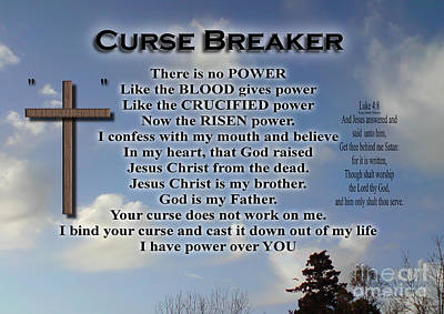 Photograph - Curse Breaker by Bible Verse Pictures