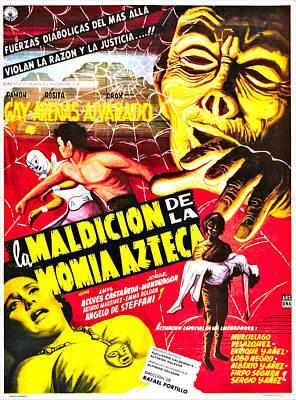 Horror Movies Photograph - Curse Of The Aztec Mummy, Aka La by Everett