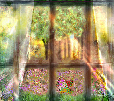 Art Print featuring the digital art Curtains by Gabrielle Schertz