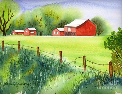 Painting - Curtis Farm Remix by Yolanda Koh