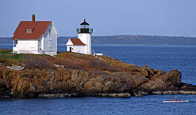 Curtis Island Lighthouse Art Print by Skip Willits