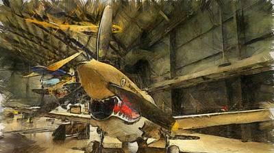 Warhawk Mixed Media - Curtiss P40 Warhawk by Dan Sproul