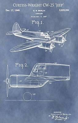 Aviator Mixed Media - Curtiss-wright Cw-25 Patent by Dan Sproul