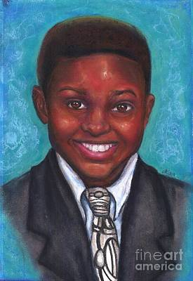 African-american Mixed Media - Curt's Smile by Alga Washington