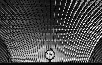 Railroad Station Photograph - Curvature Of Spacetime by Rainer Inderst