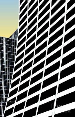 42nd Street Digital Art - Curvature On 42nd Street by Linda  Parker