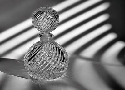 Glass Art Photograph - Curvatures 2...black And White by Tom Druin