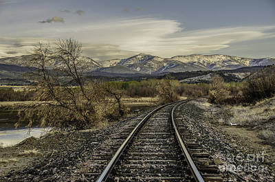 Curve In The Tracks Art Print