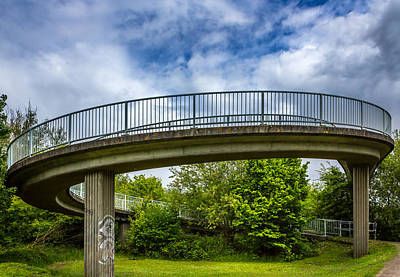Curved Bridge. Art Print by Gary Gillette