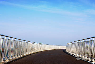 Curved Bridge Art Print