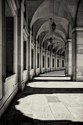 Arch Wall Art - Photograph - Curved Corridor by Louise Wolbers