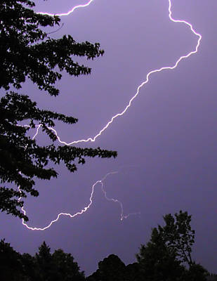 Photograph - Curved Lightning by Deborah Smolinske