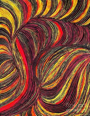 Curved Lines 3 Print by Sarah Loft