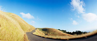 Curved Road On The Mountain, Marin Art Print