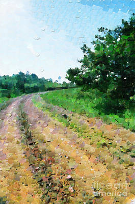 Curved Road Painting Art Print by George Fedin and Magomed Magomedagaev