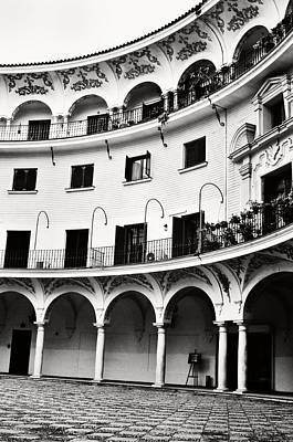 Photograph - Curved Seville Spain Courtyard by Angela Bonilla