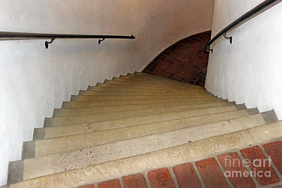 Photograph - Curved Stairway At Brandywine River Museum by Karen Adams