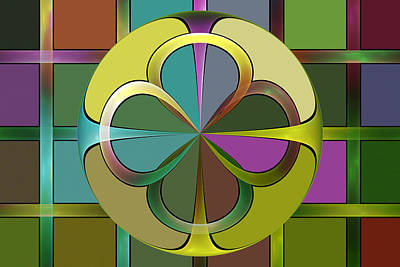 Digital Art - Curves And Squares by Sandy Keeton