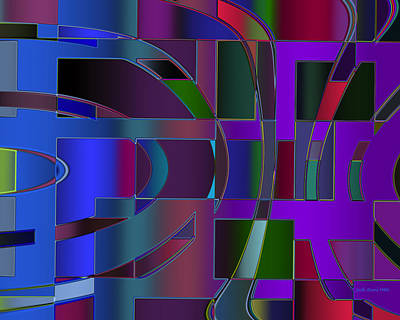 Digital Art - Curves And Trapezoids 2 by Judi Suni Hall