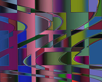 Digital Art - Curves And Trapezoids 3 by Judi Suni Hall