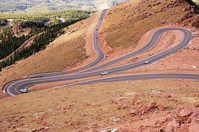 Photograph - Curves On Pike's Peak by Daniel Woodrum