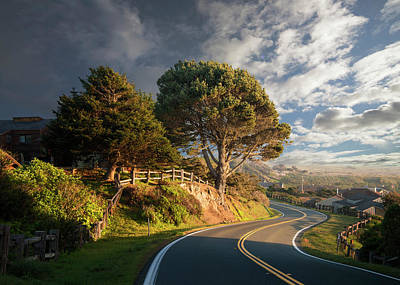 Photograph - Curving Road, Late Afternoon by Ed Freeman