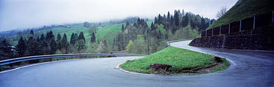 Color Guard Photograph - Curving Road Switzerland by Panoramic Images