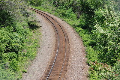 Photograph - Curving Tracks by Mark McReynolds