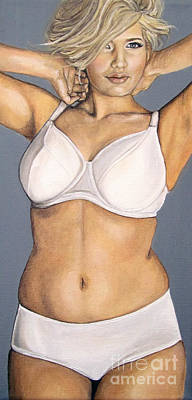 Curvy Beauty Painting - Curvy Beauties - Beautiful Blonde by Malinda  Prudhomme