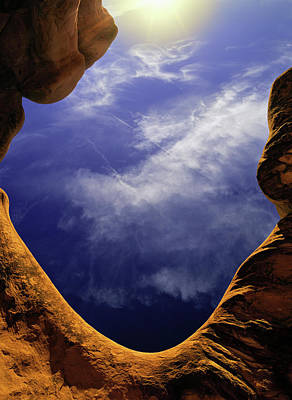 Arches National Monument Photograph - Curvy Red Sandstone In Devil's Garden by Jerry Ginsberg