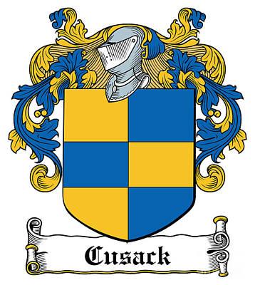 Cusack Coat Of Arms Meath Ireland Art Print by Heraldry