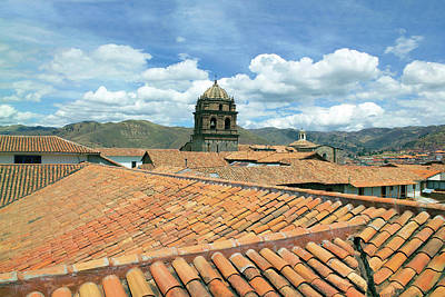 Cusco Photograph - Cusco, Peru, Red Tiled Rooftops by Miva Stock