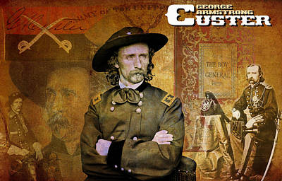Stands Mixed Media - Custer by Greg Sharpe