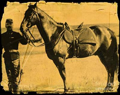 Digital Art - Custer's Horse Survived The Little Big Horn Battle by Steven  Pipella