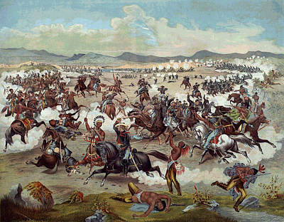 Custer's Last Charge Art Print by Unknown