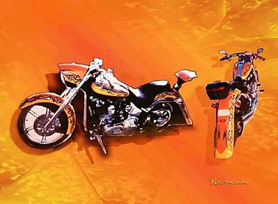 Photograph - Custom '01 Deuce Harley by Sadie Reneau