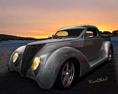 Rat Rod Photograph - Custom 37 Ford Pickup by Chas Sinklier