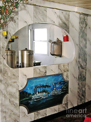 Painting - Custom Bar Marbling And Mural On Memphis Queen 3 Riverboat by Lizi Beard-Ward