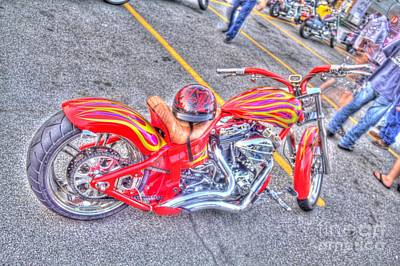 Art Print featuring the photograph Custom Bike by Jim Lepard