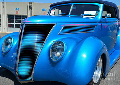 Photograph - Custom Blue Street Rod by Mark Spearman