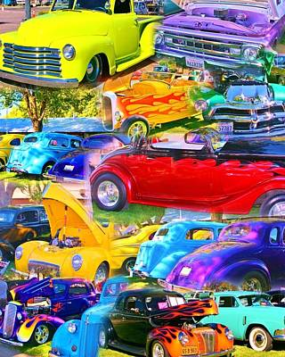 Photograph - Custom Cars Collage by Marilyn Diaz