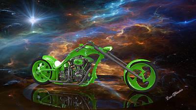 Digital Art - Custom Chopper by Louis Ferreira