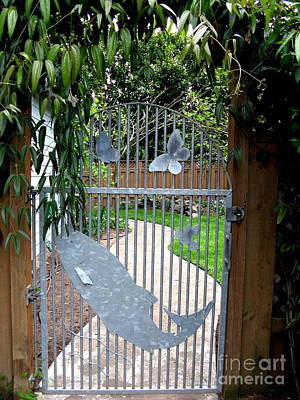 Photograph - Custom Gate Portland Oregon by Marlene Rose Besso