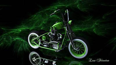 Digital Art - Custom Green Bobber by Louis Ferreira