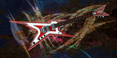 Digital Art - Custom Guitar  by Louis Ferreira
