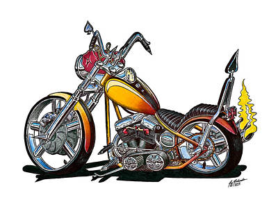choppers drawing custom hardtail chopper by jon richards