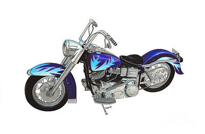 Collectible Mixed Media - Custom Harley by Darren Kopecky