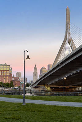 Photograph - Custom House And Zakim Bridge by Susan Candelario