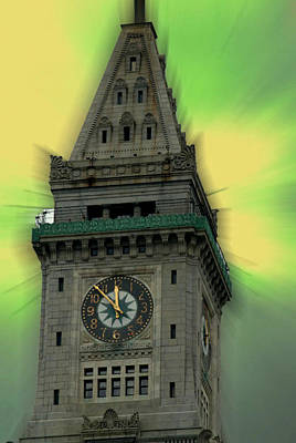 Photograph - Custom House Clock In Boston by Caroline Stella