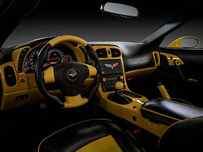 Sportscar Digital Art - Custom Interior by Douglas Pittman